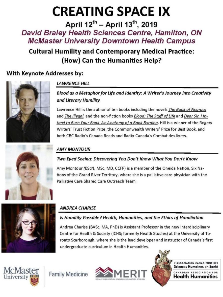 Creating Space IX Program and Registration – Health Arts and Humanities